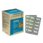 LACTOMIN – Dạng viên nang. Bổ sung 3 loại men vi sinh có ích được bao vi nang, dùng cho người bị tiêu chảy, táo bón, phân sống, rối loạn tiêu hóa, dùng kháng sinh dài ngày